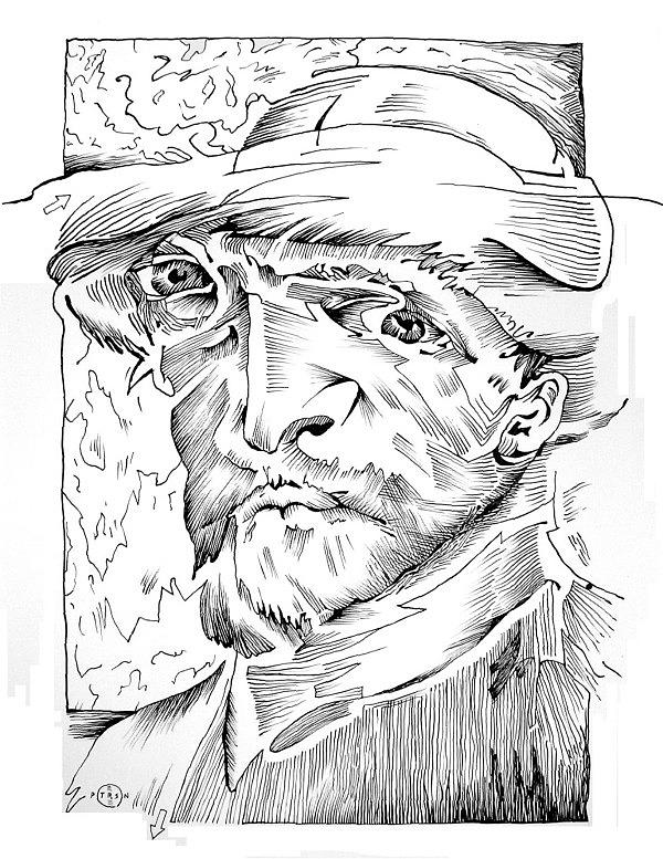 Portrait Drawing - Van Gogh by Gary Peterson