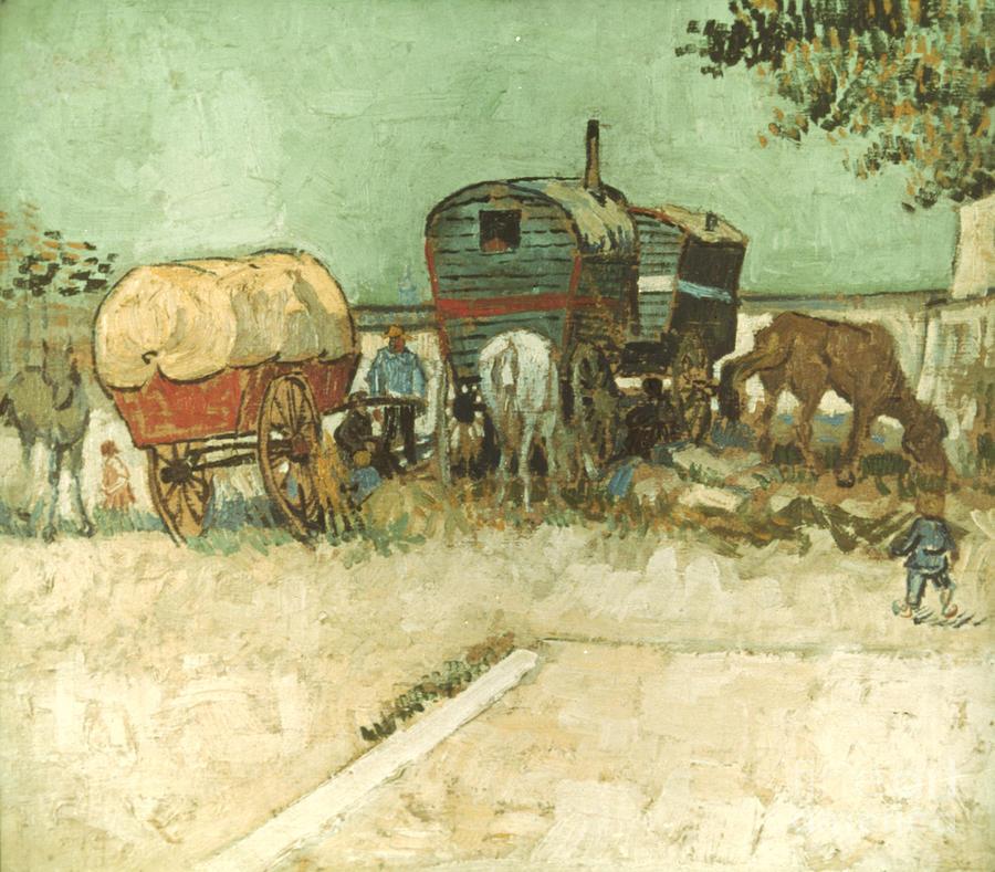 1888 Photograph - Van Gogh: Gypsies, 1888 by Granger