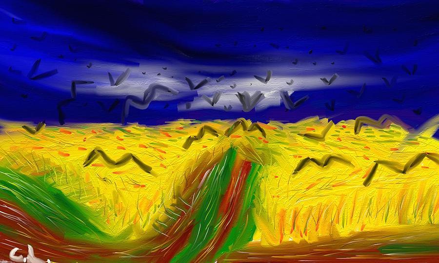 Abstracts Digital Art - Van Gogh Inspiration by Lazar Caran