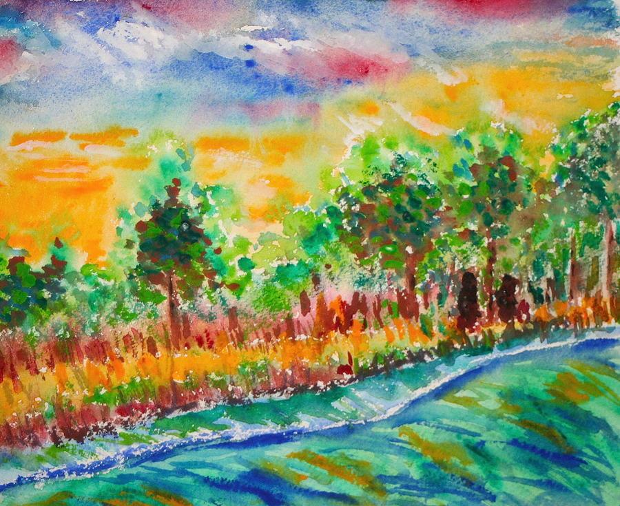 van gogh inspired park painting by william burgess