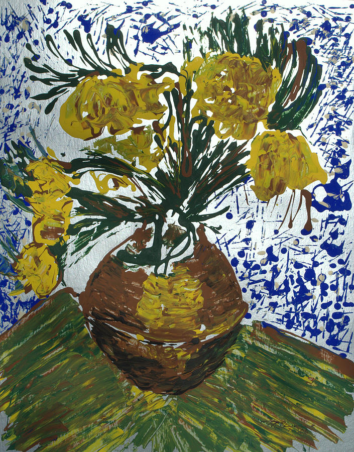 Flowers Painting - Van Gogh by J R Seymour
