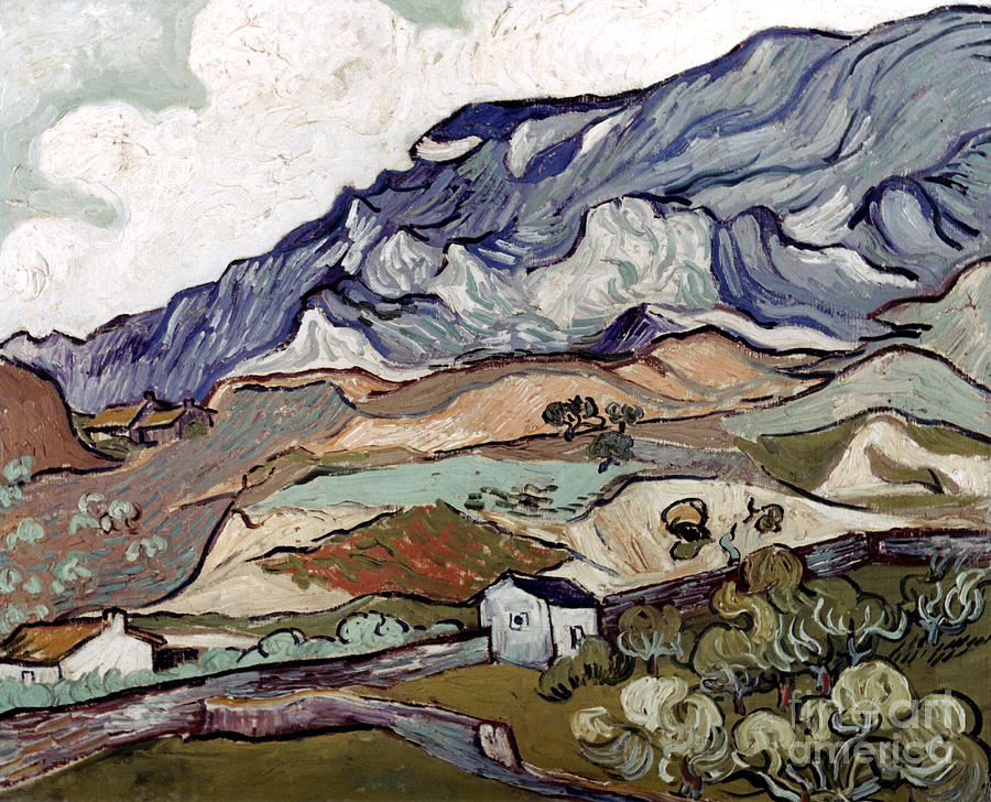 1890 Photograph - Van Gogh: Landscape, 1890 by Granger