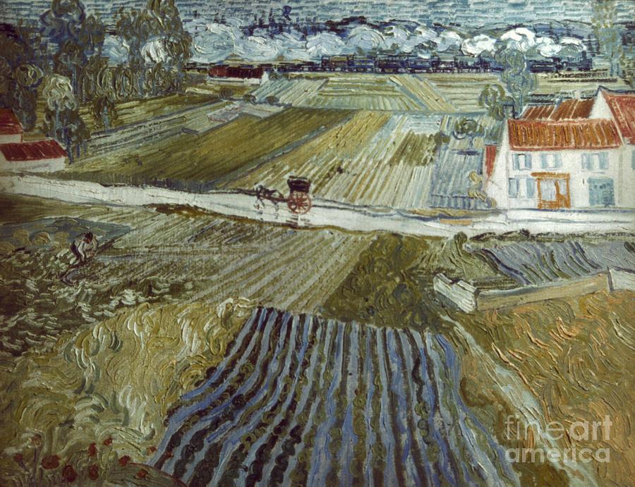 1888 Photograph - Van Gogh: Landscape, C1888 by Granger