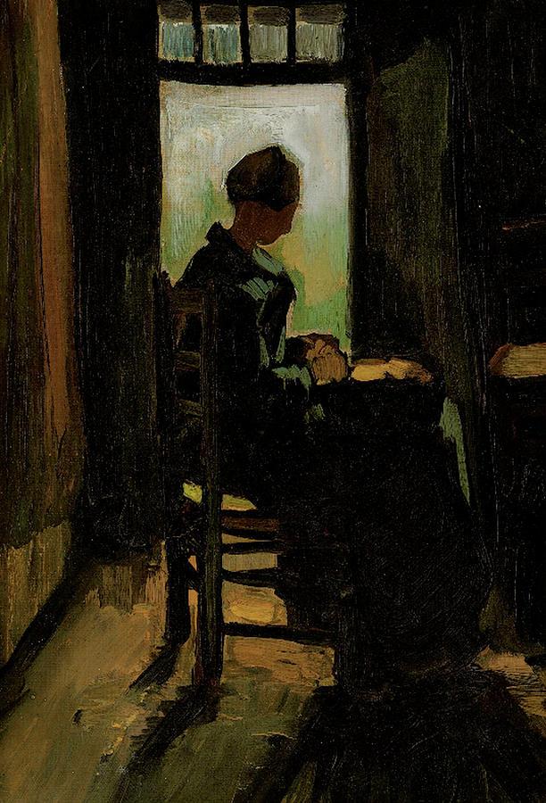 Van Gogh Painting - Van Gogh Peasant Woman Peeling Potatoes by Vincent Van Gogh