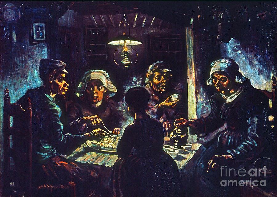 1885 Photograph - Van Gogh Potato Eaters by Granger