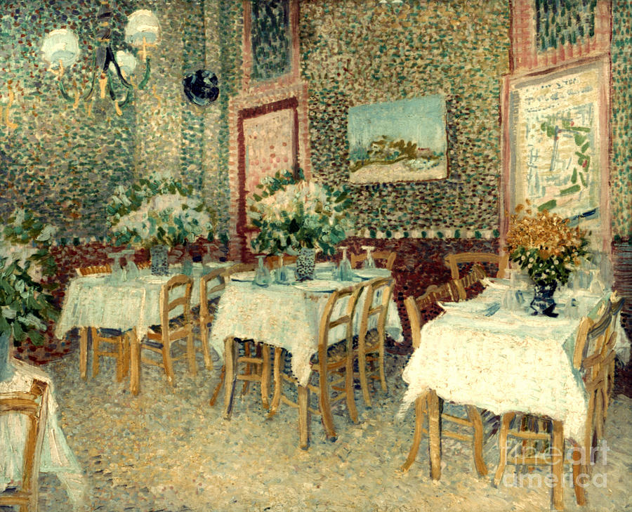 1887 Photograph - Van Gogh: Restaurant, 1887 by Granger