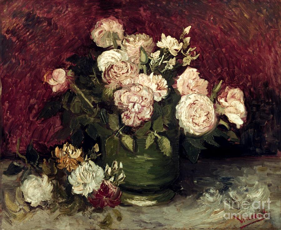 1886 Photograph - Van Gogh: Roses, 1886 by Granger