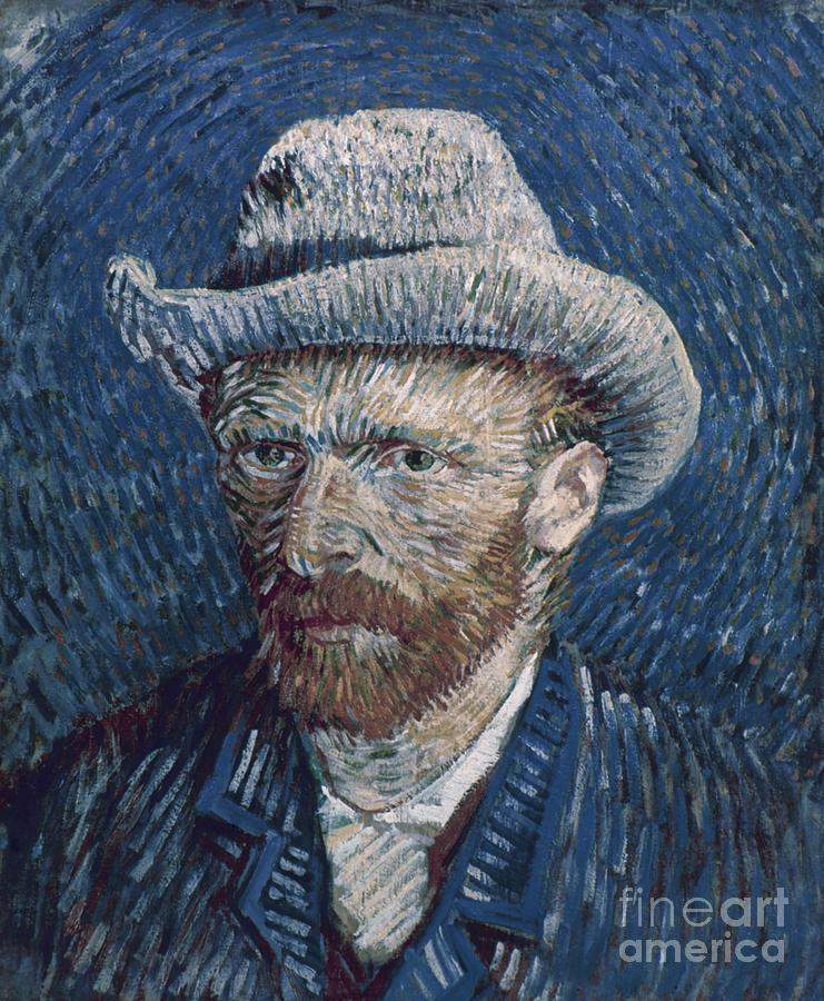 1887 Photograph - Van Gogh: Self-portrait by Granger