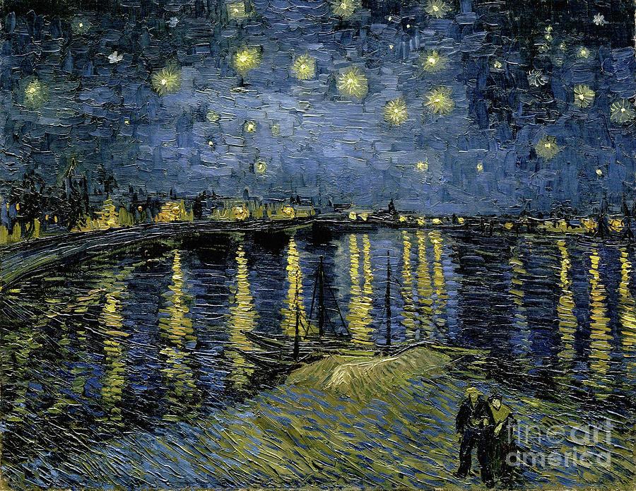 1888 Painting - Van Gogh, Starry Night by Granger