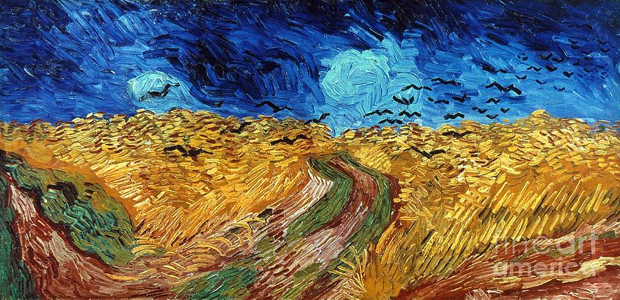 1890 Photograph - Van Gogh: Wheatfield, 1890 by Granger