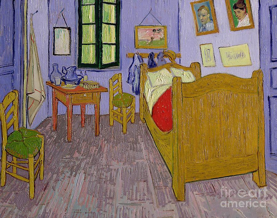 Van Painting - Van Goghs Bedroom At Arles by Vincent Van Gogh