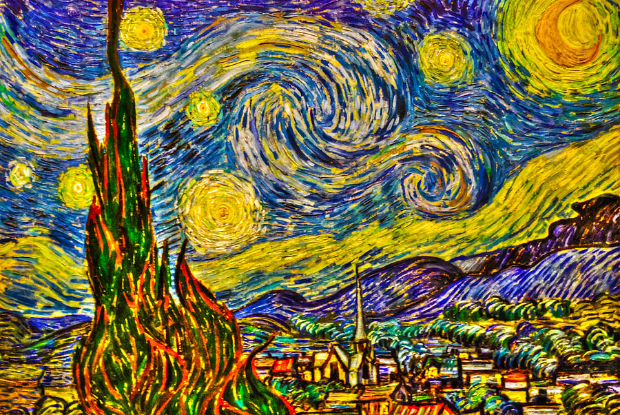 Hdr Photograph - Van Goghs starry Night - Hdr by Randy Aveille
