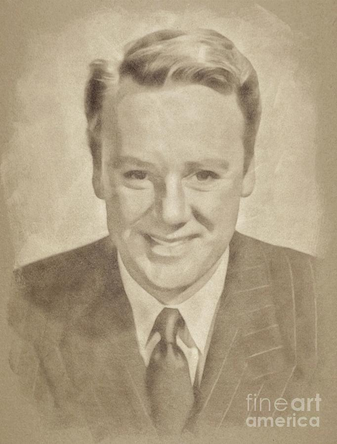 Van Johnson, Vintage Actor By John Springfield Drawing