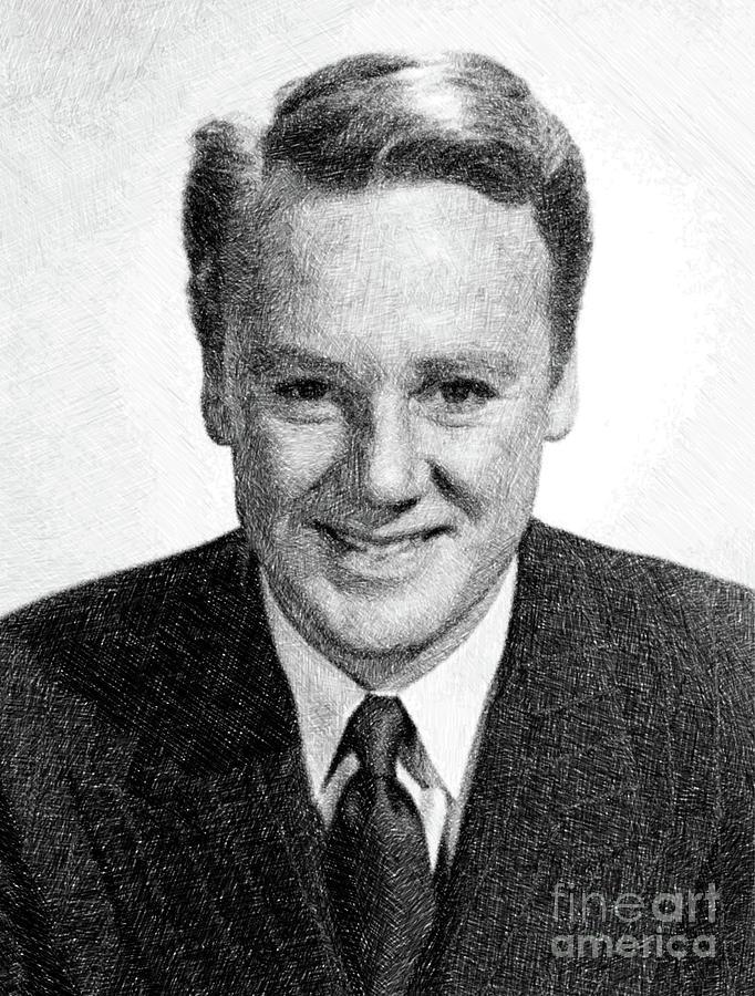 Van Johnson, Vintage Actor By Js Drawing