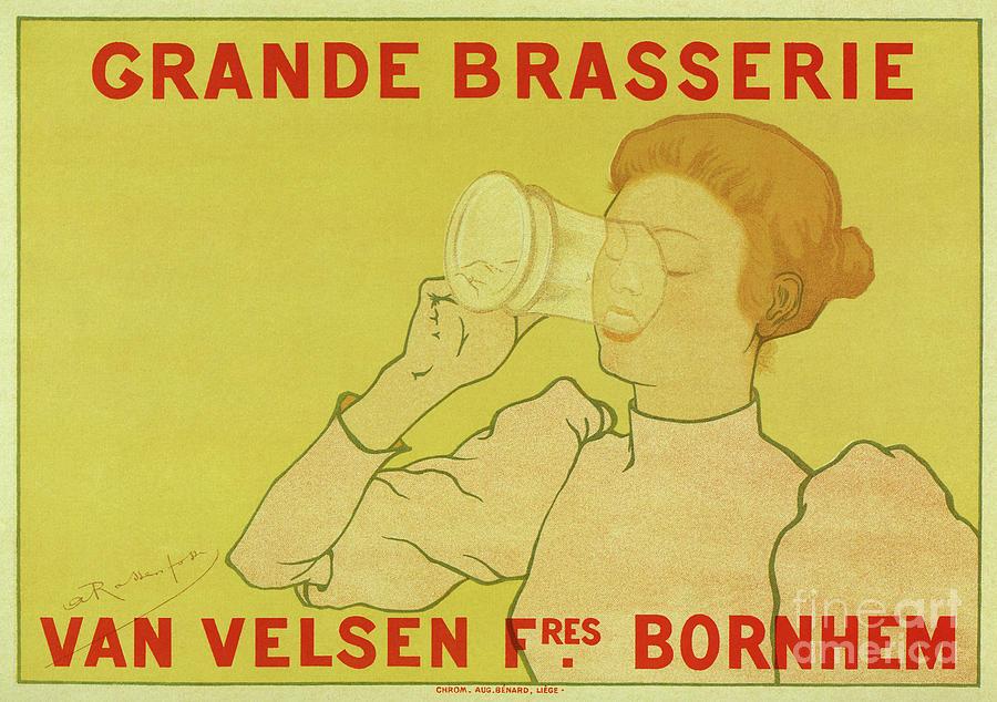 Beer Drawing - Van Velsen Belgian Beer by Aapshop