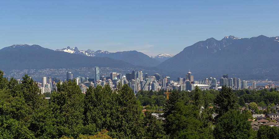 Vancouver Photograph - Vancouver Bc City Skyline And Mountains View by David Gn