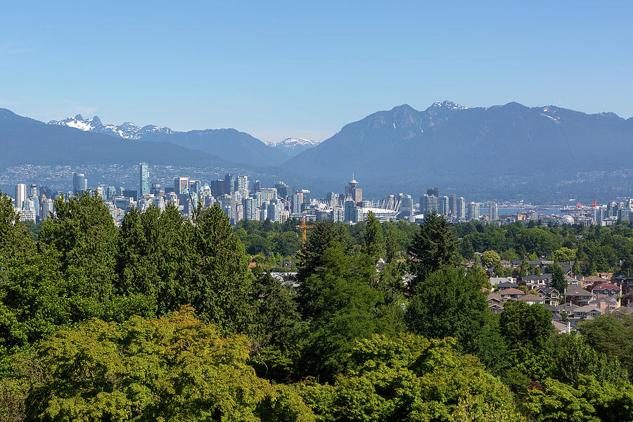 Vancouver Photograph - Vancouver Bc City Skyline From Queen Elizabeth Park by David Gn