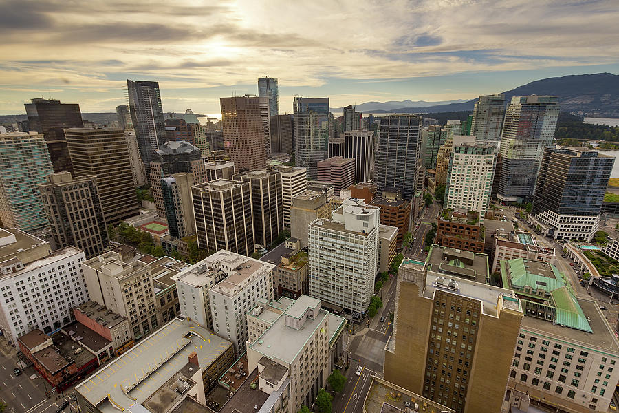 Vancouver Photograph - Vancouver Bc Cityscape Aerial View by David Gn
