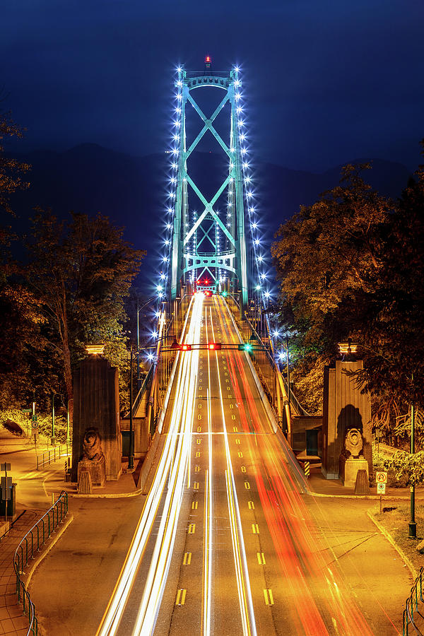 Vancouver lions gate bridge at night by Pierre Leclerc Photography