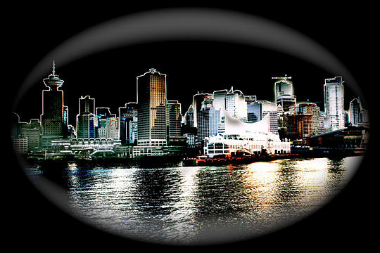 City Photograph - Vancouver Night by Michelle Seibel