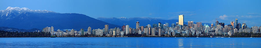 Vancouver Photograph - Vancouver Panorama   This Can Be Printed Very Large by Pierre Leclerc Photography
