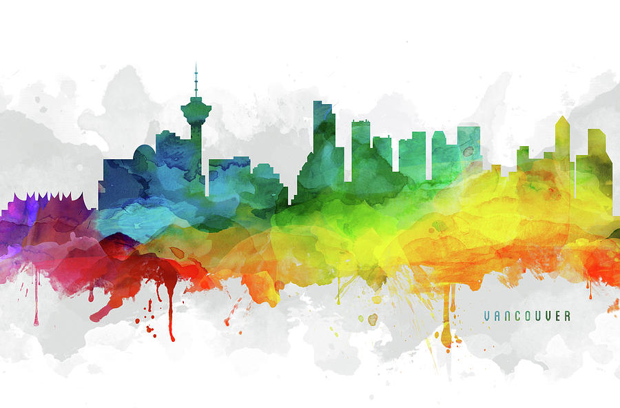 Vancouver Digital Art - Vancouver Skyline Mmr-cabcva05 by Aged Pixel