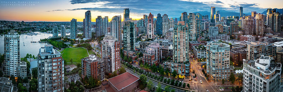 Vancouver Sunset Panorama Photograph