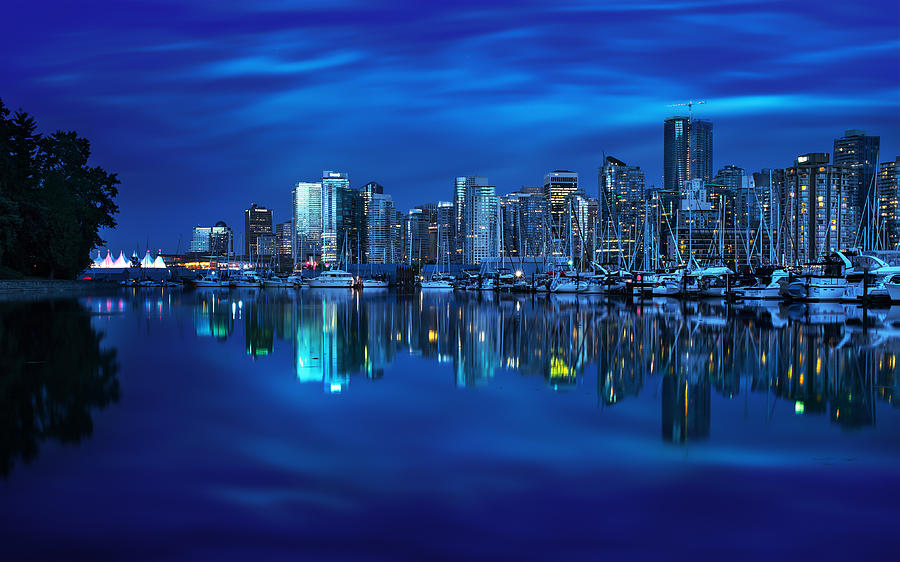 Canada Photograph - Vancouvers Mirror by Mohsen Kamalzadeh
