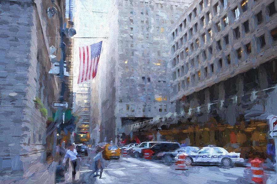 Nyc Digital Art - Vanderbilt Avenue, Nyc by Matthew Ashton