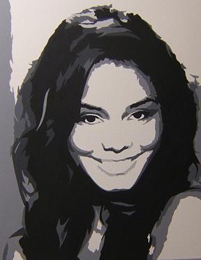 High School Musical Painting - Vanessa Anne Hudgens by Michael James  Toomy