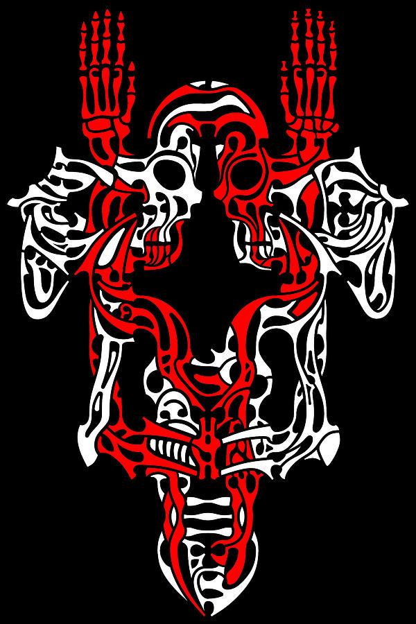 Skull Digital Art - Vanity 1 by David Umemoto