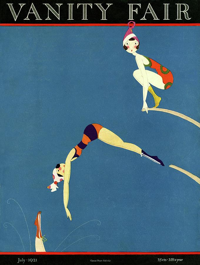 Vanity Fair July 1921 Cover Painting by A H Fish