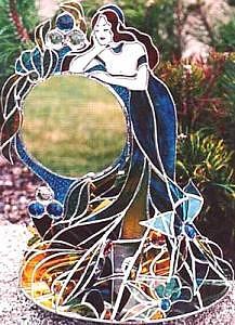 Woman Glass Art - Vanity Nouvelle by Karen Ichino