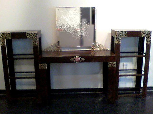 Steel Sculpture - Vanity Set With Shelves by Don Thibodeaux