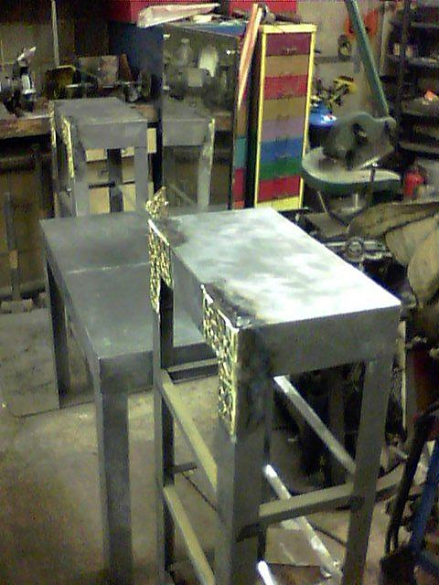 Steel Sculpture - Vanity With Shelves Prototype by Don Thibodeaux