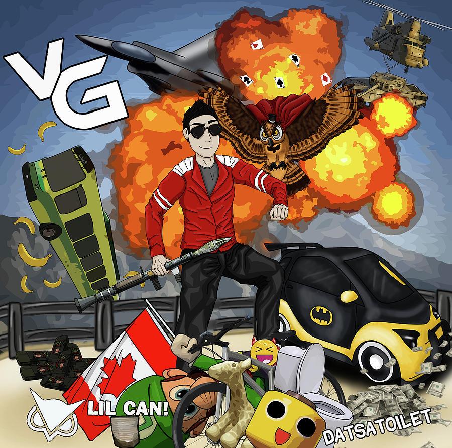 vanoss gaming digital art by callmeladdy