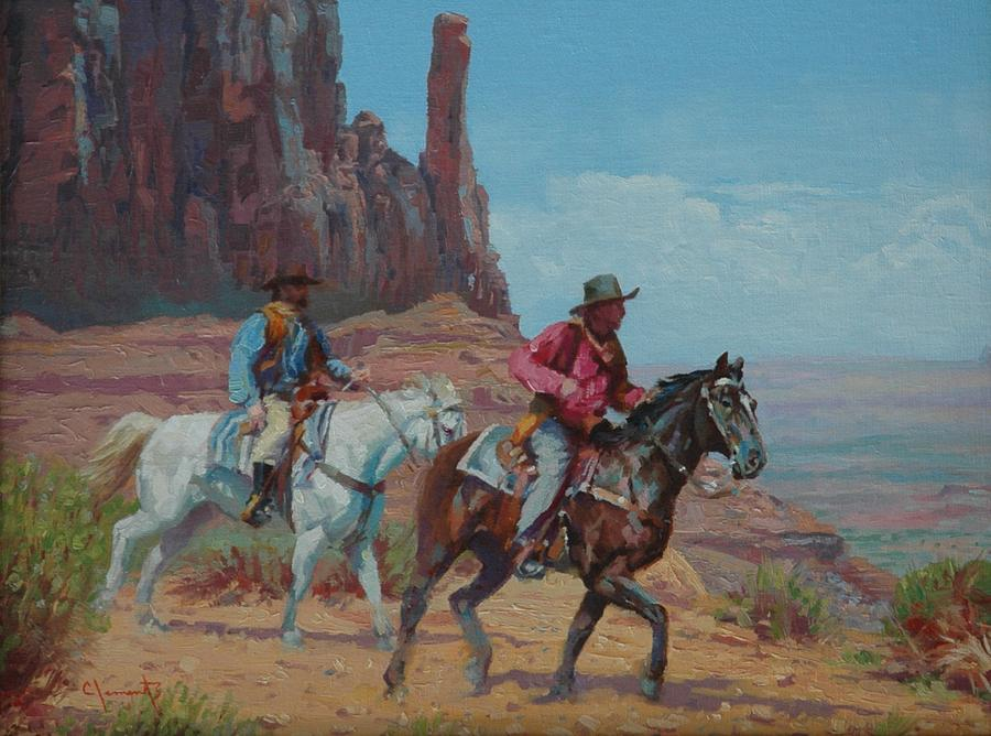 West Painting - Vantage Point by Jim Clements