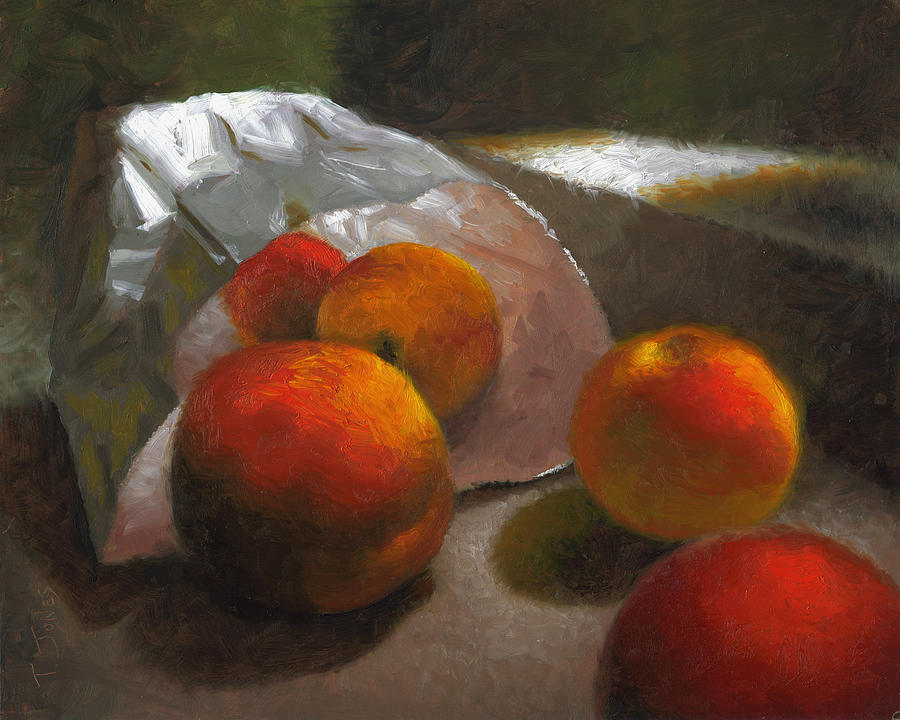 Peaches Painting - Vanzant Peaches by Timothy Jones