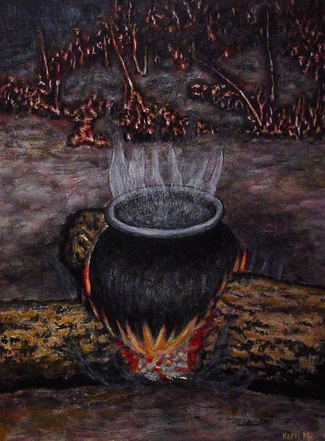 Landscape Painting - Vapeur by Koffi Mbairamadji