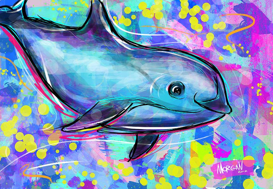 Ocean Digital Art - Vaquita by Morgan Richardson