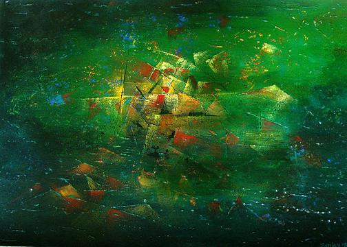 Oil Painting Painting - Varanasi Ghats by Sanjay kumar