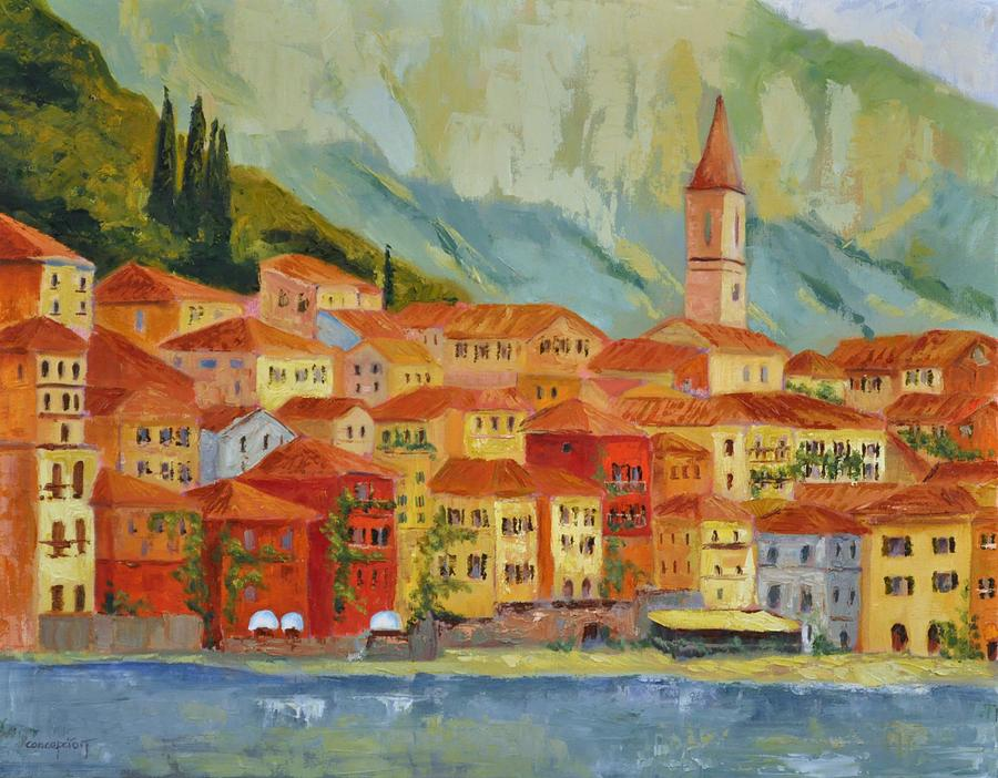 Italian Villages Painting - Varenna  Italy by Ginger Concepcion