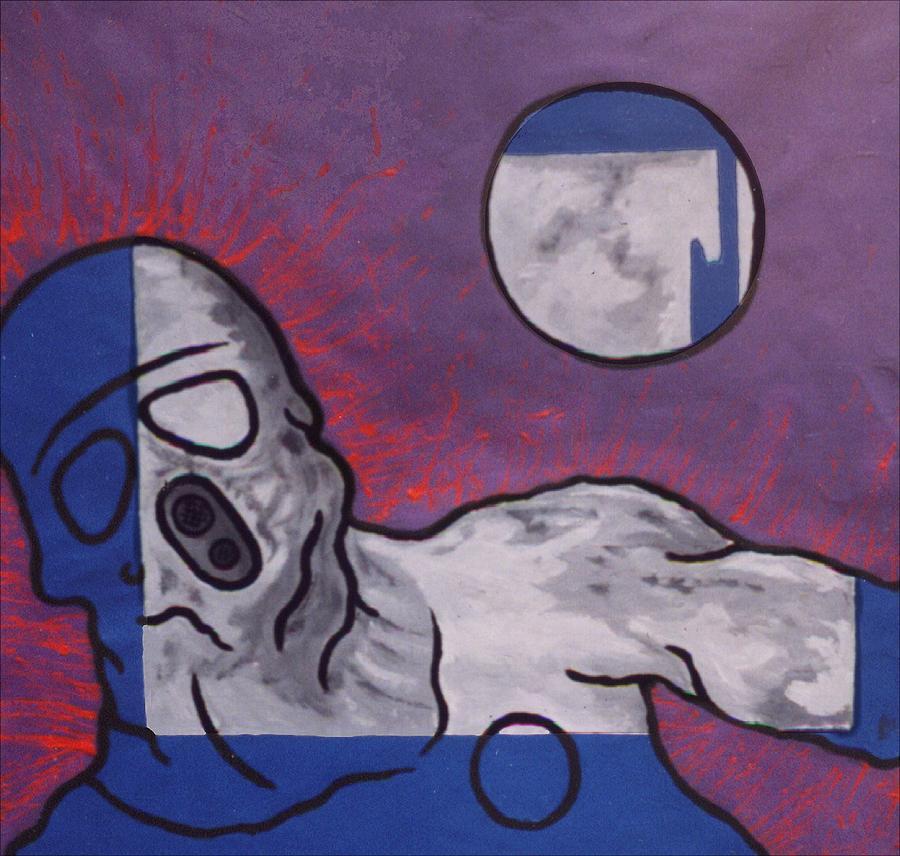 Surrealist Painting - Variation In Blue by Pierre Davis-Dutreix