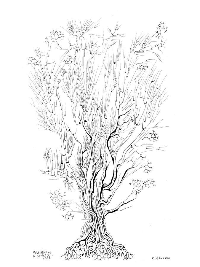Lattice Drawing - Variation On A Cayley Tree by Regina Valluzzi