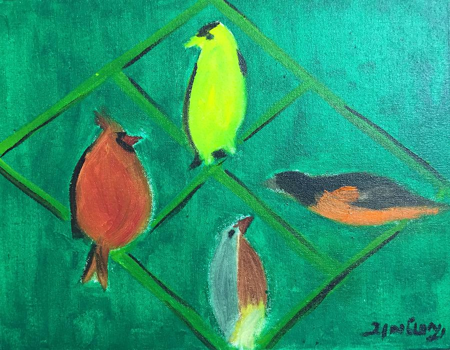 Birds Painting - Variety is the spice of life by Ramya Sundararajan