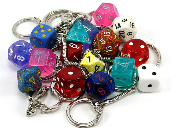 Key Chains Jewelry - Various Dice Keychains by World of Dice