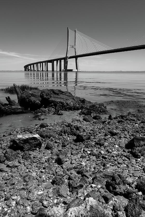 Vasco Da Gama Bridge Photograph - Vasco Da Gama Bridge II by Marco Oliveira