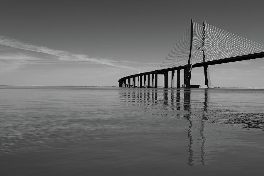 Vasco Da Gama Bridge Photograph - Vasco Da Gama Bridge by Marco Oliveira
