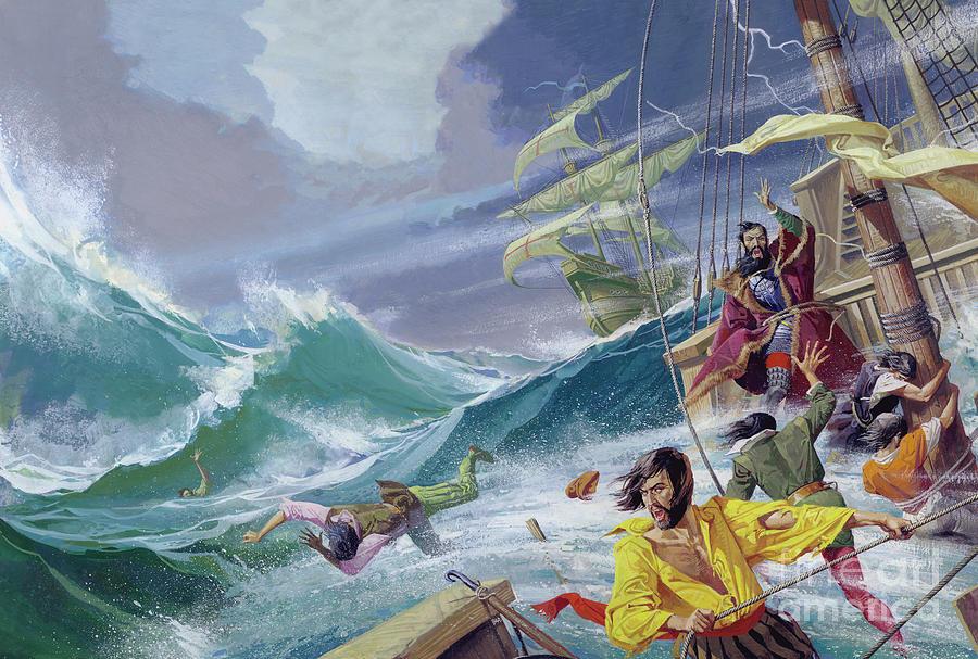 Vasco Da Gama Painting - Vasco Da Gama On The Way To India by Severino Baraldi