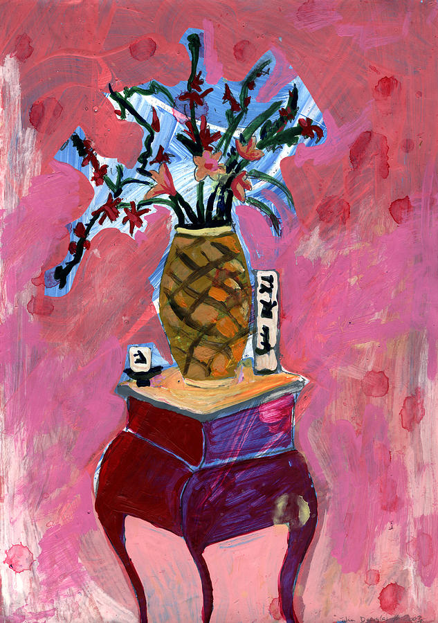 Flowers Painting - Vase And Flowers by John Douglas